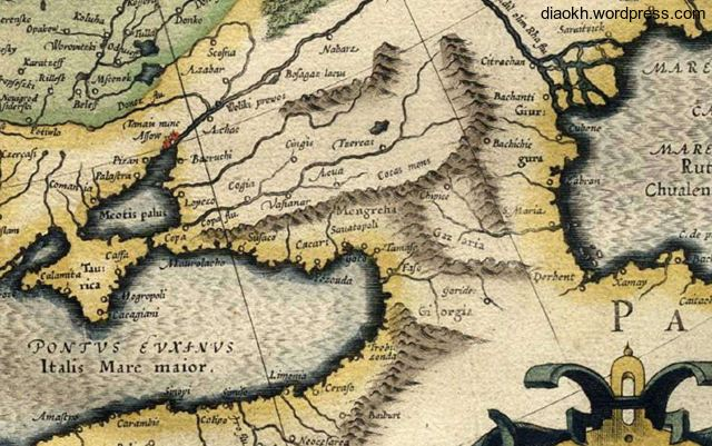 Mercator's map 1567..Europa